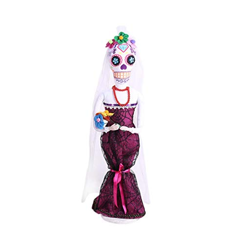 Quaan Halloween Bräutigam Braut Schädel Dekorativ Ornamente Hexe -