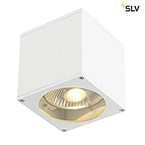SLV Big Theo Wall Light, Angular, White, ES111, max. 75W, Aluminium