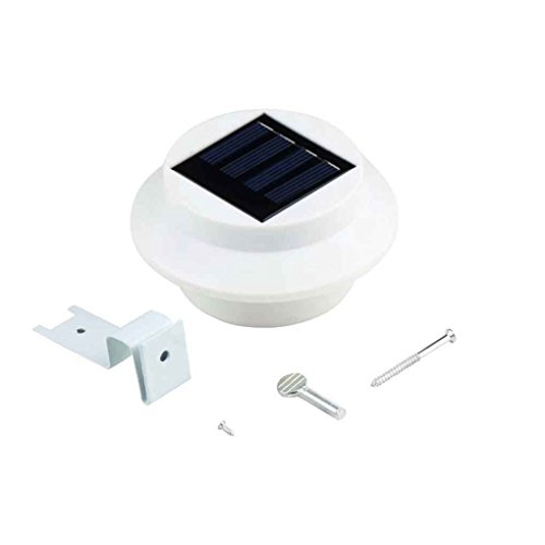 Meisijia Wasserdicht 3 LED Energiesparsonnenenergie-im Freien Garten-Licht Gutter Zaun Dach Yard Wand mit Bracket