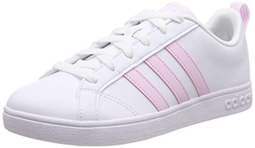 adidas Vs Advantage Scarpe da Tennis Donna, Bianco (Ftwr White/Aero Pink S18/Light Granite Ftwr White/Aero Pink S18/Light Granite), 38 EU