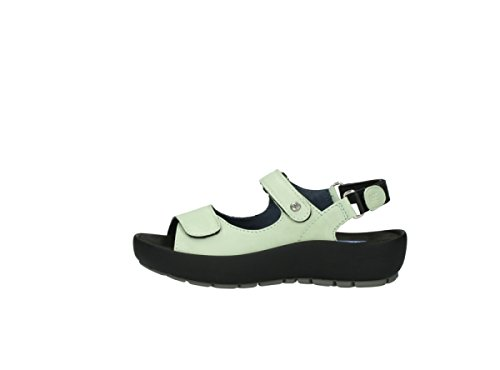 Wolky Womens 3325 Rio Leather Sandals 270 light green leather