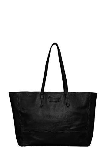 Liebeskind Berlin Damen Essential Shopper Large Schultertasche, Schwarz (Black) 14x30x36 cm -