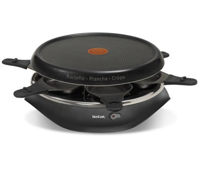 re507816 Tefal 3 in 1 Raclette/Pancake/Tischgrill (Piastra) 6 Persona