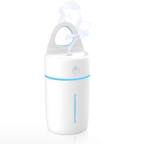 Humidificateur d'Air, METALBAY Diffuseur Huile Essentielle Electrique USB, Mini Humidificateur Portable Lumineux Silencieux pour Maison et Voiture