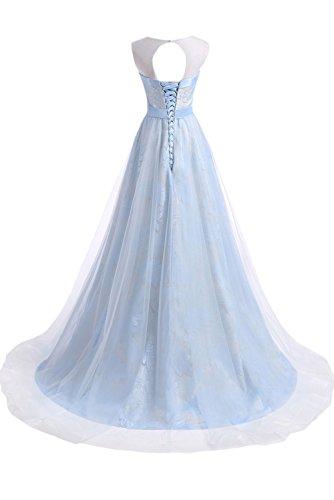 Promgirl House - Robe - Trapèze - Femme bleu clair