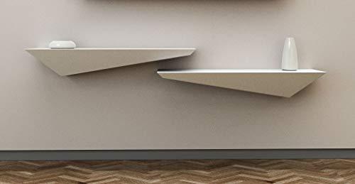 Mensola Design Porta Tv A Muro E Parete Legno Laccato Bianco Opaco