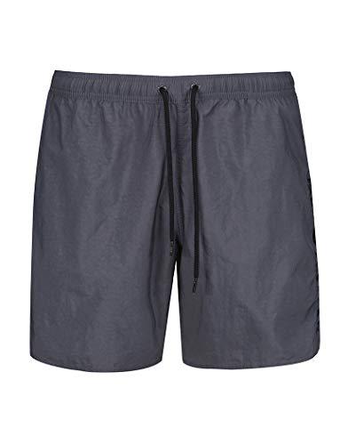 Armani Embroidery Logo Trunk Swim Shorts 38 inch Antracite