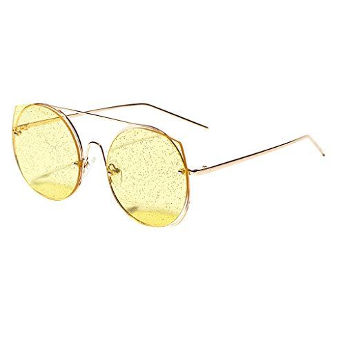 Clacce Damen Sonnenbrille, Hexagon Form, Verlaufsglas, Metallgestell, Hippie, Kostüm,...