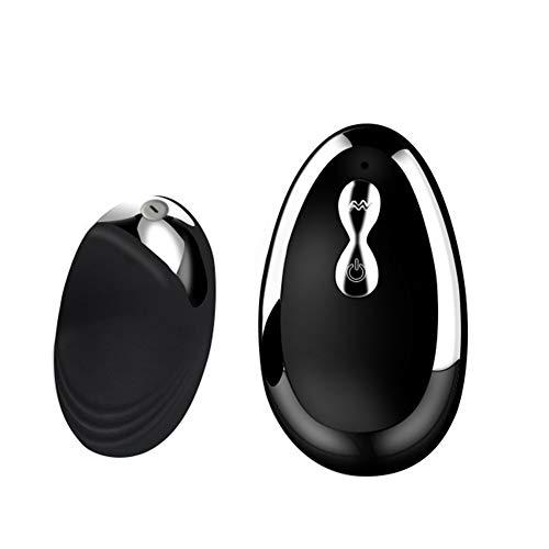 Hxzxcvbnm Vibrate-Spielzeug USB wiederaufladbar Massage Vibrierendes Ei Massage Wireless Remote Love Egg für Frauen Beckenboden Toner für Frauen Beckenbodenübung Jiggle Balls, Schwarz