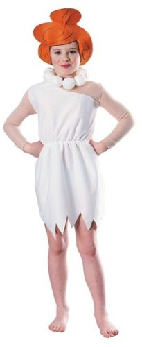 38557 M - Wilma Flintstone Kind Größe 128 (Kind Wilma Flintstone Kostüme)