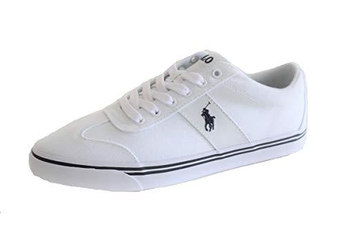 Ralph Lauren Polo Herren Canvas Sneaker Zev Low Weiß (41 EU)