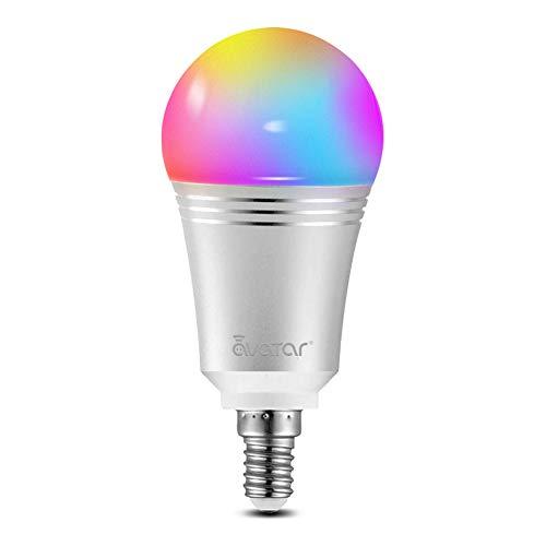 Smart LED Lampen, Alexa Wlan Glühbirne E14 7W RGBCW Dimmbar Licht 16 Millionen Farben Kein Hub Erforderlich Kompatibel mit Google Home IFTTT by Avatar Controls(1 Pack)