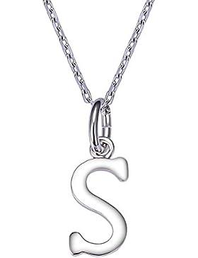 VIKI LYNN Sterling Silber 925 Halskette mit klein Buchstabe