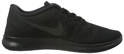 Nike Free Run, Chaussures de Running Compétition Femme Multicolore (Black / Black / Anthracite / White)