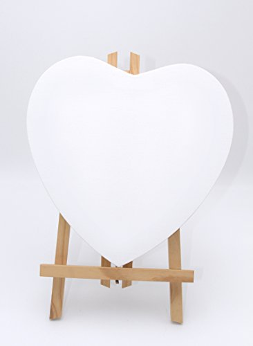 Herz Leinwand (10er Sparset Leinwand Herz 30x30cm, 380gr/m² Qualitäts- Keilrahmen)