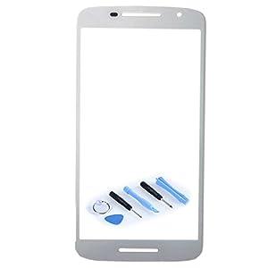 Displayglas Front Display Glas Weiß für Motorola Moto X Play 3rd gen XT1562 XT1563 Reparatur SET Hochwertig + Opening KIT TOOL Werkszeug Neu New