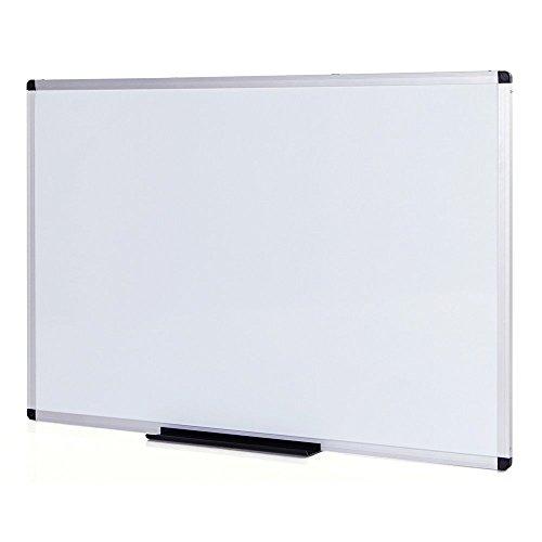 VIZ-PRO Pizarra blanca magnética con marco de aluminio, 1000 x 800mm