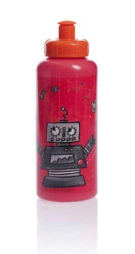Egmont Toys Trinkflasche, Kinder-Trinkflasche, Wasserflasche, Motiv: Roboter, 19 cm, in rot