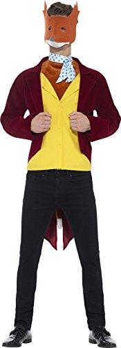 Smiffy's 42851M - Herren Fantastic Mr Fox Kostüm, Größe: M, rot (Mr Fantastic Fox Kostüm)