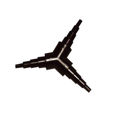 Uni-daptor Raccord de tuyau triple en Y