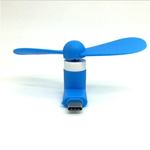 Interesting Blue Portable Mini Tipo di Ventilatore del Telefono Cellulare Tipo C per i telefoni cellulari Android