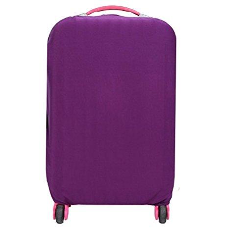 WINOMO Funda de maleta Cubierta Maleta de Equipaje con 22-24 pulgadas (Morado)