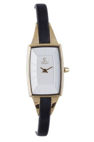 Obaku Harmony - V120L GIRB - Montre Femme - Quartz - Analogique - Bracelet Cuir Noir