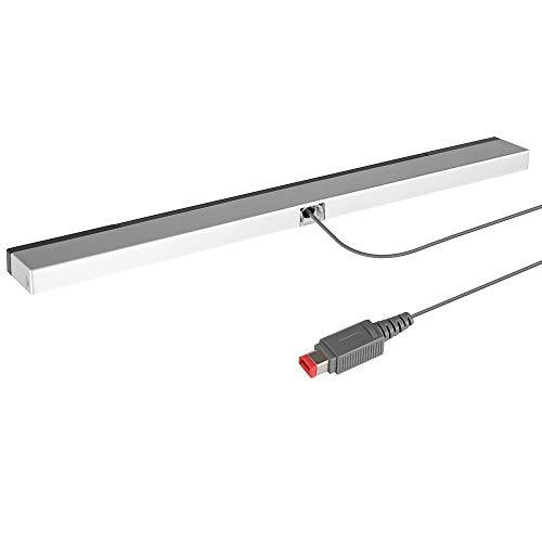 Lavuky WS01 PC Infrarot-Sensorleiste für Nintendo Wii/Wii U Konsole, USB verkabelt, Schwarz/silberfarben