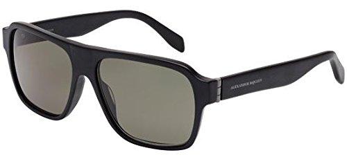 Alexander McQueen - AM0036S, Rechteckig Acetat Herrenbrillen