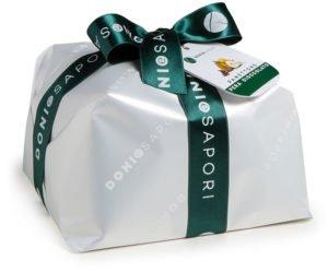 Doni & sapori - panettone artigianale tradizionale con pere e cioccolato - 1 kg