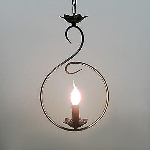 Artes claras Lámpara Chandelier Vela con 1 Bombilla - CATAWBA ( Voltage : 220-240V )