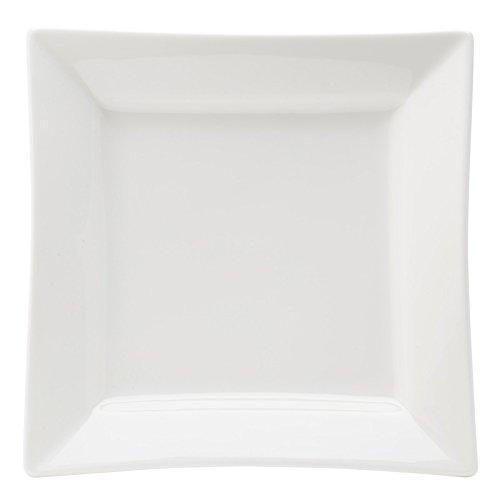 Utopia Anton Noir en porcelaine fine Z03014-000000-b01006 Matrix Deep Assiette carrée, 22,9 cm (lot de 6)
