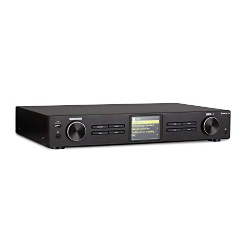 auna iTuner 320 BT digitaler HiFi-Tuner mit Bluetooth und WLAN, Spotify Connect, Internet-, DAB+ und UKW-Tuner, DLNA & UPnP, USB, Netzwerk-Mediaplayer, HCC-Display, Fernbedienung, schwarz
