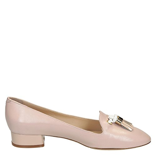 LEONARDO SHOES MOCASSINI DONNA 07GAIANUDE PELLE ROSA