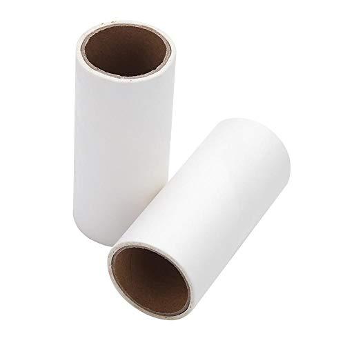 Multifunktionale Fusselrolle, selbstklebend, klebrige Fusselentferner, Haustierhaar-Staub-Roller, mit 2 Nachfüllrollen für Boden Teppich Sofa 2 Rollers