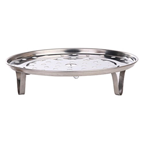 Sanwood Stainless Steel Steamer Rack Steaming Tray Stand Cookware Tool (19.5cm)