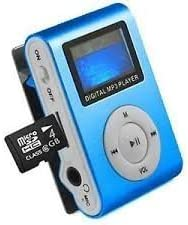 M Tech Digital Display Mini Mp3 Player with Data Cable & Earphone (Assorted Colour)