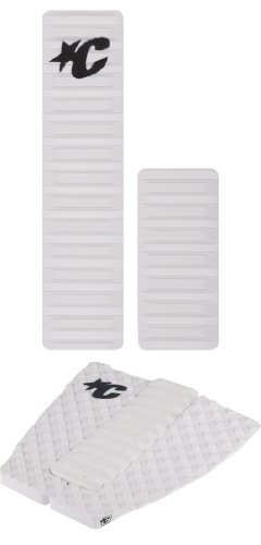 Creatures of Leisure Skimboard Arch/Traction Pad Combo Kit, weiß