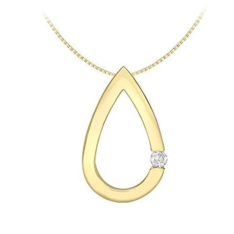 Carissima Gold Damen-Kette 9k yellow gold Venetian Box Chain 46cm / 18inch 1.44.6474 Rundschliff Diamant 1 cm