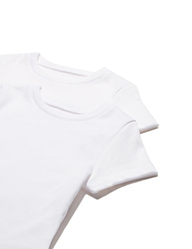 RED WAGON Mädchen T-Shirt 2er Pack, Weiß (White), 140 (Herstellergröße: 10) (Kinder Weißes T-shirt)