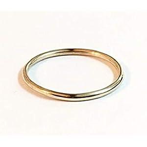 FloweRainboW Dünner Trauring 585 Gold Klassisch – Hochzeitsring/Ehering/Verlobungsring – Damen/Männer