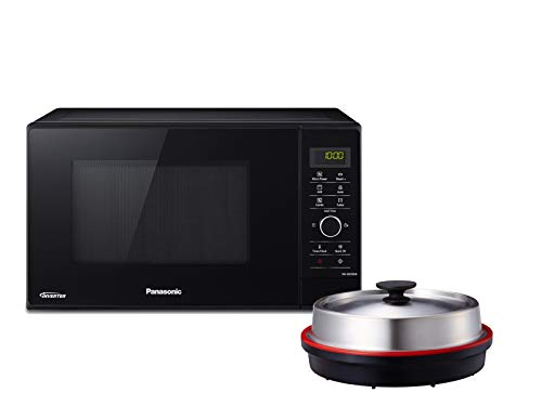 Panasonic NN-GD35HBGTG Mikrowelle mit Grill (1000 W, Dampfgarer, Steamer, Kombimikrowelle, Pizza-Pfanne, 23 - Grill And Microwave