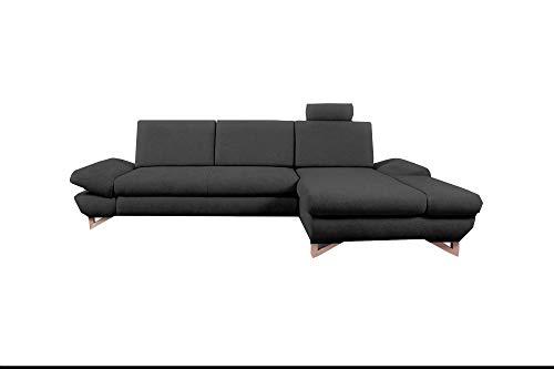 mb-moebel Ecksofa mit Schlaffunktion Eckcouch mit Bettkasten Sofa Couch L-Form Polsterecke Merida