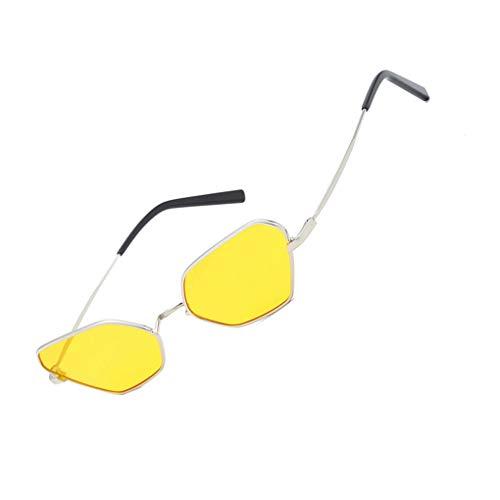Lindahaot Tierisches Auge Sonnenbrille-Frauen-Metallrahmen Sonnenbrillen UV400 Damen Unregelmäßige Shades Brillen 3 144x145x34mm