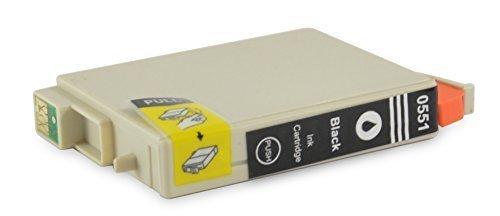 Bubprint Druckerpatrone kompatibel für Epson T0551 für Stylus Photo R240 R245 RX420 RX425 RX520 Schwarz/Black
