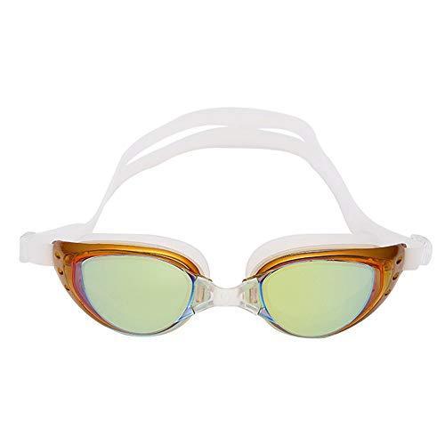 About1988 2019 Neu Erwachsene professionelle Wasserdichte schützen Schwimmen Brille Schwimmbrille Anti-Fog & UV Schutz & Schnell zu verstellen (Gold)