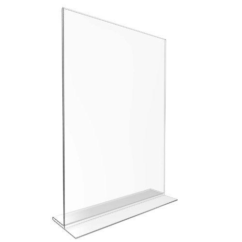 Displaypro Lot de 10 porte-menus double-face en acrylique Transparent Format A4