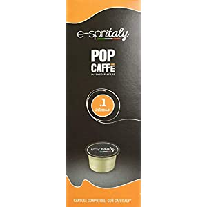 POP CAFFE' E-Spritaly .1 Intenso 100 capsule compatibili Caffitaly e Caffitaly Professional