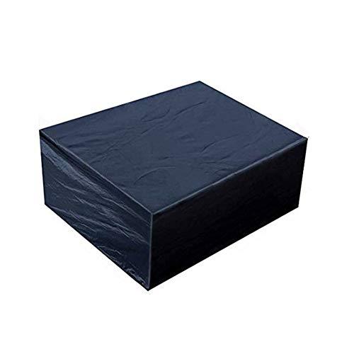 AHGX-Cover Copertura Protettiva Coperture per Mobili, Premio All'aperto Giardino Copritavolo Copridivano, con Perforazioni con Corda di Nylon, Impermeabile,Black,315 * 160 * 74Cm