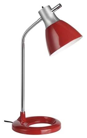 Brilliant - 92762/01 - Lampe de Bureau Jan - Moderne - 40 W - E27 - 230 V - Rouge